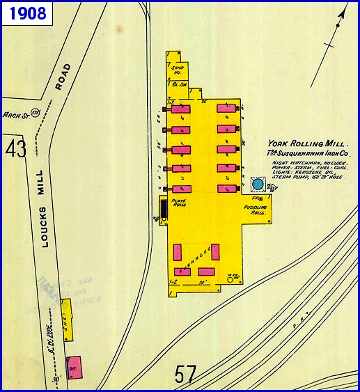 Site Map Digital: #7 York Rolling Mill In Spring Garden Township; Site Of A Massive Explosion In 1908